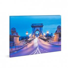 Tablou decorativ cu lumina LED - Podul cu lanțuri - 38 x 48 cm