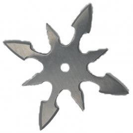 Steluta ninja pentru aruncat la tinta, gri, 8 colturi, 6 cm