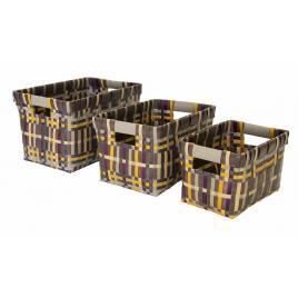 Set 3 cosuri depozitare din polipropilena odile 32 cm x 44 cm x 28 h