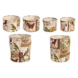 Set 6 cosuri depozitare din textil botanic Ø 42 cm x 48 h