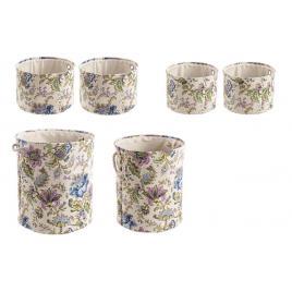 Set 6 cosuri depozitare din textil flowers Ø 42 cm x 48 h