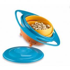 Bol rotativ 360° gyro bowl, cu protectie anti-varsare pentru copii si bebelusi