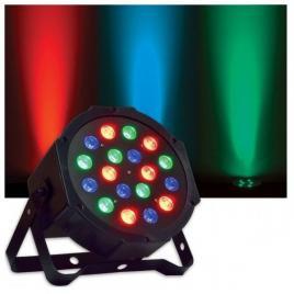 Proiector par cu efect lumini rgb, 18 led-uri colorate si control dmx