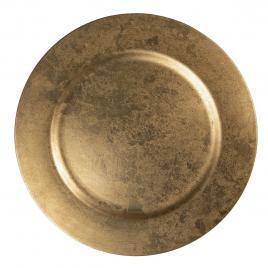 Farfurie din melamina auriu antic Ø 33 cm