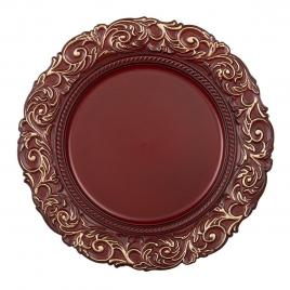 Farfurie din melamina rosu auriu Ø 33 cm x 2 cm