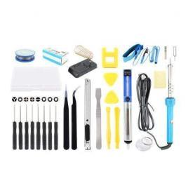 Kit pentru lipit 27 de piese letcon suport pentru letcon, tub cu fludor, pompa de dezlipit,set de varfuri pentru letcon