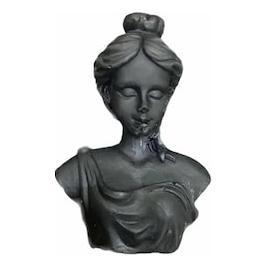 Lumanare stil statueta Venera negru handmade 11cm