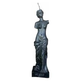 Lumanare stil statueta Venus negru handmade 16cm