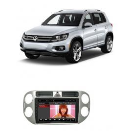 Navigatie ANDROID compatibil  VW Tiguan 2010-2016 include doua adaptoare pentru butonul de avarie