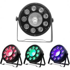 Proiector lumini par led rgb 9 leduri x3w + 1 led x20w, culori statice disco