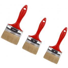 Set pensule cu maner din PVC 3 buc dimensiuni  1x80mm  / 1x90mm  / 1x100mm