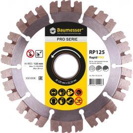 Disc diamantat  Rapid Pro 125 mm pentru beton gresie caramida si dale pentru pavaj