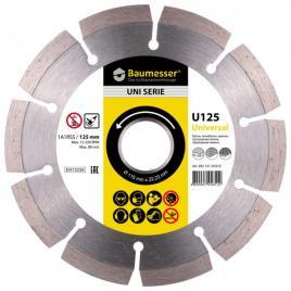 Disc diamantat Baumesser Universal 1A1RSS / C3 125 x 22.23 destinat taierii uscate a betonului gresiei placilor de pavaj a caramizii