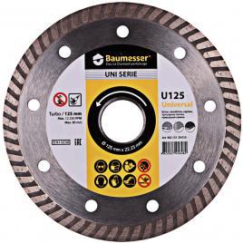Disc diamantat Baumesser Universal U125 pentru polizor cu un diametru de 125 mm