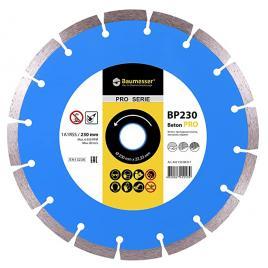 Disc diamantat Beton Pro 230 x 26 x 222 mm pentru taierea uscata a placilor de pavaj caramizi beton gresie