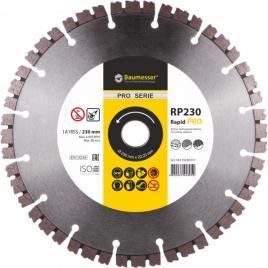 Disc diamantat Rapid 1A1RSS / C3-H 230 x 22.23  pentru taiere beton armat dale pentru pavaj caramida gresie