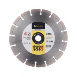 Disc diamantat UNIVERSAL U230 230x22.2x2.6 mm pentru taierea uscata a betonului armat usor caramida beton spumant dale pentru pavaj piatra naturala