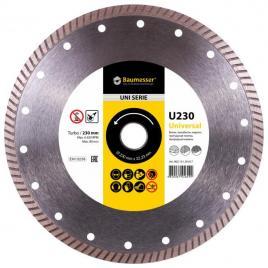 Disc diamantat Universal Turbo 230 x 22.23 pentru taierea betonului si a pietrei