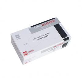 Manusi nitril nepudrate culoare neagra, marimea M, - Farmagloves, 100 buc/cutia