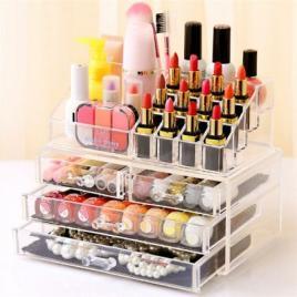Organizator cosmetice cu 4 sertare