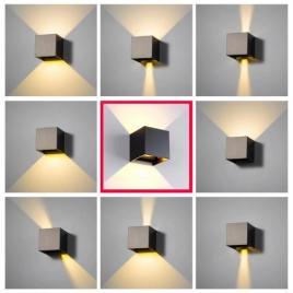Aplica led pentru fatada, doua fascicule, reglarea unghiului de dispersie a luminii