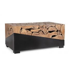 Masuta de cafea din fier negru si lemn natur grenada 100 cm x 60 cm x 45 h