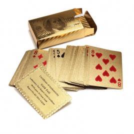 Carti de joc foita AUR 24K ( poker ) + certificat de autenticitate
