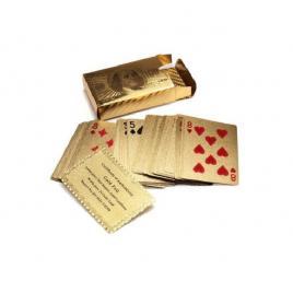 Carti de joc imbracate in aur 24K