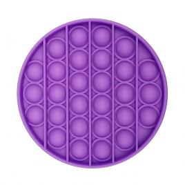 Jucarie antistres POPIT din silicon - mov - rotunda 12 cm