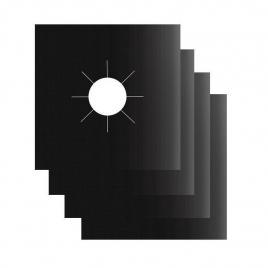 Set 4x Folie de Protectie Reutilizabila pentru Plita si Aragaz - Compatibilitate Universala Premium Negru Original Deals