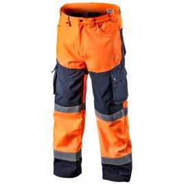 Pantaloni de lucru cu vizibilitate ridicata softshell portocalii nr.m/50 neo tools 81-751-m