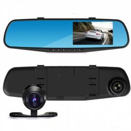 Monitor 4 inch tip oglinda cu 2 camere fata-spate DVR