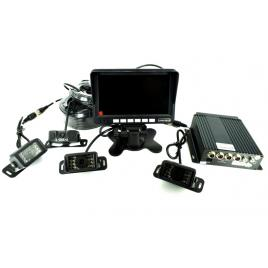 Sistem DVR kit monitor senzor parcare + 4 camere video