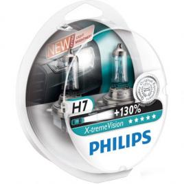 Set 2 Becuri auto far halogen Philips H7 X-treme Vision +130% 12V 55W