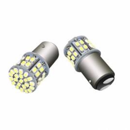 Set 2 becuri LED cu doua faze 50SMD lumina alba BAY15D 12V