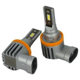Set 2 bucati bec  H11 cu LED CSP2121 4000 lumen 6000k Voltaj: 12-24V