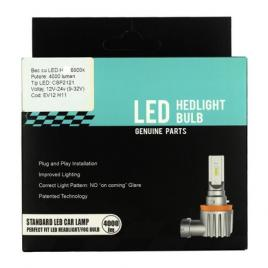 Set 2 bucati bec H4 cu LED CSP2121 4000 lumen 6000k Voltaj: 12-24V