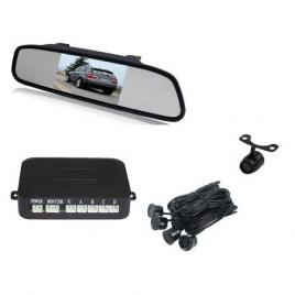 Set 4 senzori parcare cu display in oglinda
