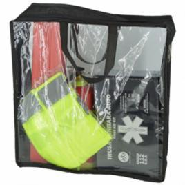 Kit siguranta auto complet - trusa 2 triunghiuri stingator vesta geanta depozitare rezistenta
