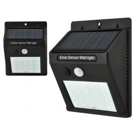 Lampa solara de perete cu 20 led-uri, senzor de miscare si lumina, 12.5x9.5 cm, negru