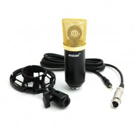 Microfon profesional andowl q mic3 pentru karaoke, inregistrari