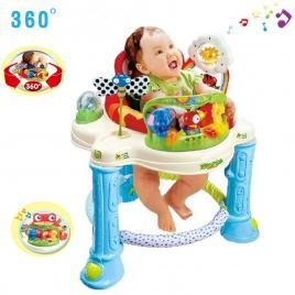 Premergator cu centru de activitati  pentru bebelusi cu functie muzicala, luminoasa, rotatie 360 grade