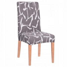 Husa scaun dining/bucatarie, din spandex, culoare gri