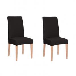 Set 2 huse pentru scaun dining/bucatarie, din spandex, culoare negru