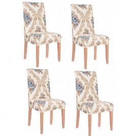 Set 4 huse glamour pentru scaun dining/bucatarie, din spandex
