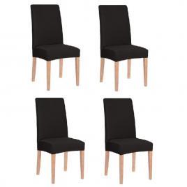 Set 4 huse pentru scaun dining/bucatarie, din spandex, culoare negru