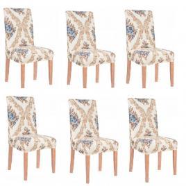 Set 6 huse glamour pentru scaun dining/bucatarie, din spandex
