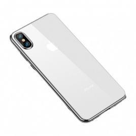 Husa protectie iphone xs, ultra slim, din silicon argintiu