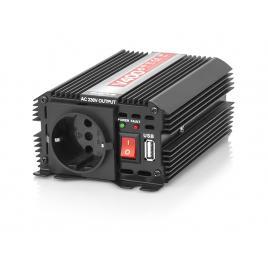 Invertor transformator tensiune auto de la 12v la 230v, port usb, 1 priza, putere 400w
