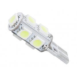 Set 2 becuri led auto t10 w5w 1.8w canbus cu 9 led-uri pentru pozitie, lumina alb rece